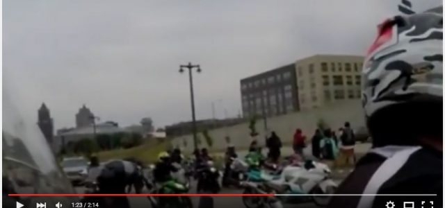 A Milwaukee Cop runs biker off the road, and hurts his passenger. While Traveling down N. 6th and McKinley Avenue in downtown Milwaukee Milwaukee Police car cutting back and forth across the lanes ran a biker with a passenger off the road. — Video Below Police claimed the officer had […]