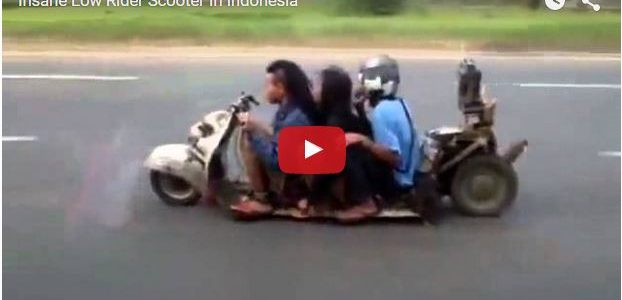 A Ghetto Ruckus, a Low Rider Scooter, What the hell are they riding?? Comments comments